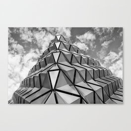 The Architectural Cladding from Leeds University Car Park Canvas Print
