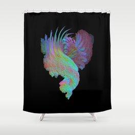 3D Fractal Plume Shower Curtain