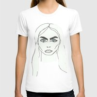 cara delevingne T-shirts featuring Cara delevingne by Mary Naylor