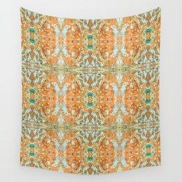 Humming Bird Orange Wall Tapestry