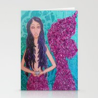 fitzgerald Stationery Cards featuring Cordelia Fitzgerald the Mermaid by inara77