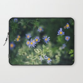 Blue and Yellow Flowers Laptop Sleeve