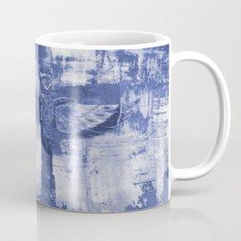 Totem Cabin Abstract - Stonewashed Denim Coffee Mug