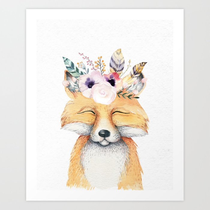 Forest Fox by Nature Magick Art Print