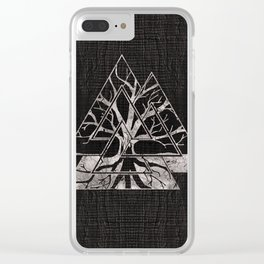 Valknut Symbol and Tree of life  -Yggdrasil Clear iPhone Case