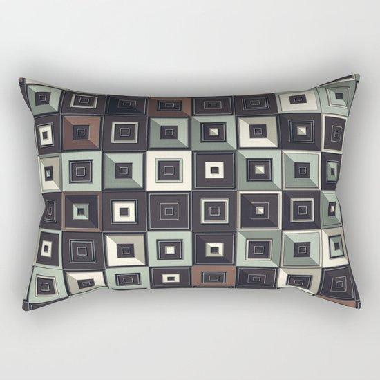 Lost in Squares II Rectangular Pillow