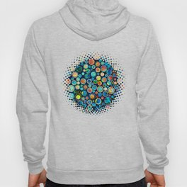 Dots on Painted Background Hoody