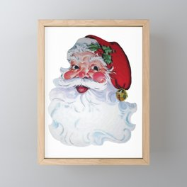 Vintage Santa Claus Jolly Face and Rosy Cheeks Framed Mini Art Print
