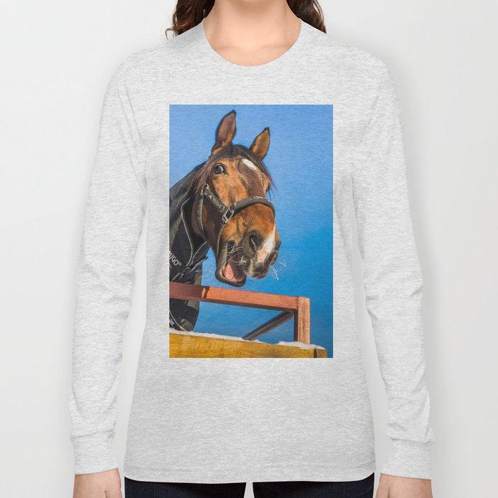 Laughing horse Long Sleeve T-shirt
