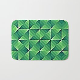 Green Geo Pattern Bath Mat