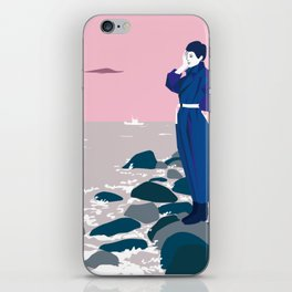 Woman by the sea iPhone Skin