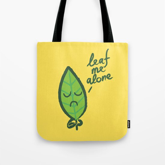 The introvert leaf Tote Bag