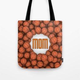 Basketball Mom / 3D render of hundreds of basketballs framing Mom text Tote Bag