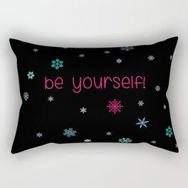 Be Yourself Snowflake Rectangular Pillow
