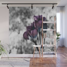 Pop of Color Muted Eggplant Teal Wall Mural