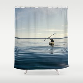 Blue Sea Victory Shower Curtain