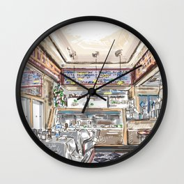 Little Dom's Restaurant in Los Angeles California Wall Clock