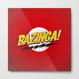 Bazinga Flash Metal Print