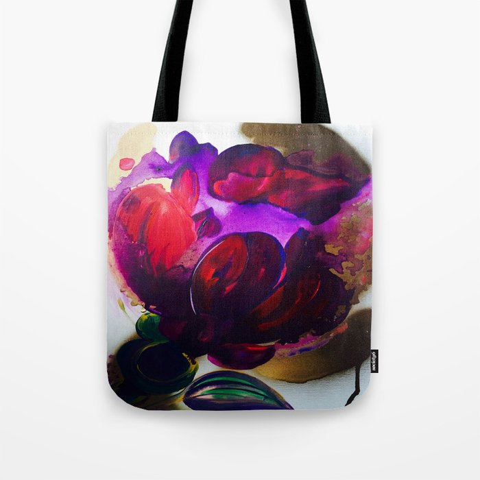 Purple and Gold Poppies Maybe? Tote Bag