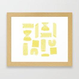 Pasta Pattern Framed Art Print
