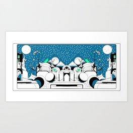 Earth Ship Art Print