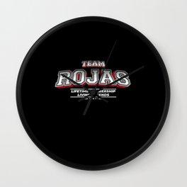 Team ROJAS Family Surname Last Name Member Wall Clock