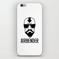 airbender iPhone & iPod Skins featuring AIRBENDER by Aldo Cervantes Saldaña
