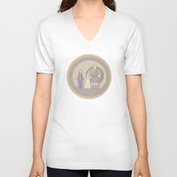 tapestry V-neck T-shirts featuring tapestry...  by studiomarshallarts