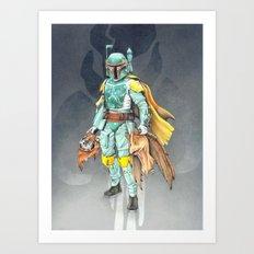 Star Wars Boba Fett and friends Art Print