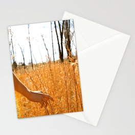 Hands Through Gold Stationery Cards