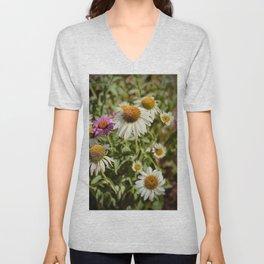 Summer Wildflowers Vintage Print Unisex V-Neck