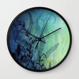 Underwater Ocean Foliage Wall Clock
