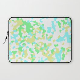 Blue, Yellow, and Green Mosaic Laptop Sleeve