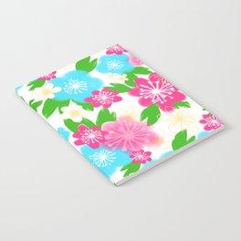 04 Pattern of Watercolor Flowers Notebook