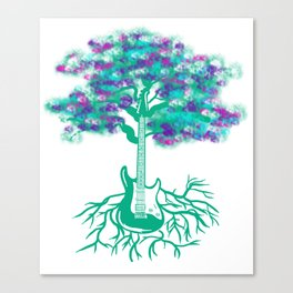 Guitar Tree With Roots Music Player Guitarist Canvas Print