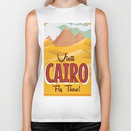 Cairo,Egypt vintage Travel poster Biker Tank