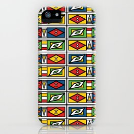 African geometric print iPhone Case