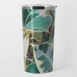 Verigated Rubber Plant Travel Mug