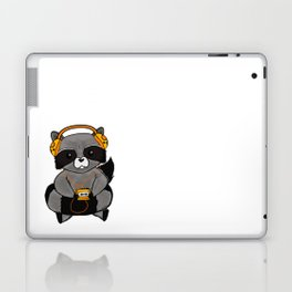 three wise raccoon music Laptop & iPad Skin