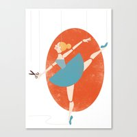 ballerina Canvas Prints featuring Ballerina by Zara Picken