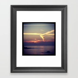 Skying Framed Art Print