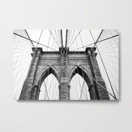 new york #3 - Brooklyn Bridge Metal Print