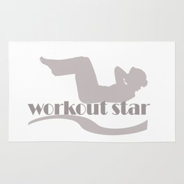 Workout Yoga Gym Star Rug