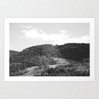 Monochrome Mountains Art Print
