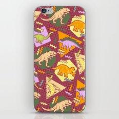 Nineties Dinosaur Pattern version 2. iPhone & iPod Skin