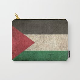Old and Worn Distressed Vintage Flag of Palestine Carry-All Pouch