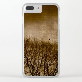 Lonesome Guardian Clear iPhone Case