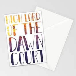 High Lord of the Dawn Court Stationery Cards
