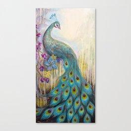 Jeweled Peacock Canvas Print