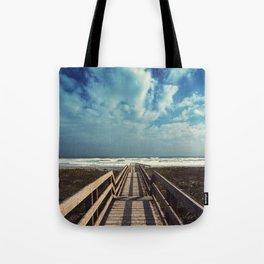 Beach Boardwalk Tote Bag